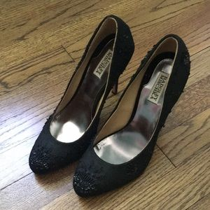 Badgely Mischka Black high heels-size 10